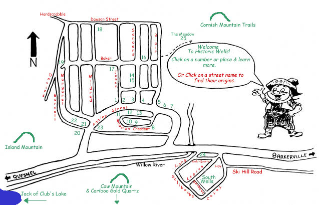 Map of Wells