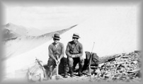 Two placer prospectors on a mountain, wpH126