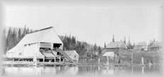 Clarke & McIntyre Sawmill and Stopping House1909, wpH758