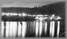 Cariboo Gold Quartz and Jack O' Clubs at night, mid to late 1930s, wpH976